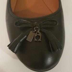 Coach Shoes - Coach Black Leather Flats